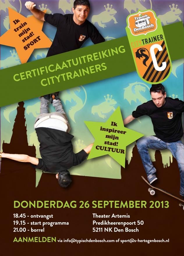 Citytrainer Certificaatuitreiking  -  Uitnodiging