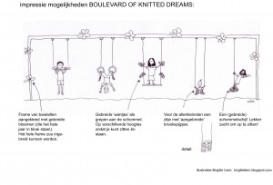Typisch Den Bosch  |  Boulevard of Knitted Dreams (tekening door Studio Limon)